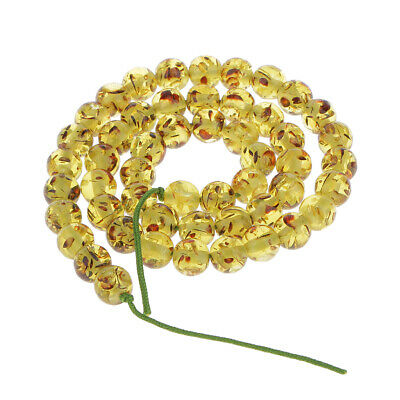 8mm Olive Green Amber Round Gemstone Loose Beads 16''
