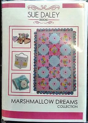 Sue Daley Marshmallow Dreams Patterns Single Bed Quilt, Bag, Doll & Cushion,