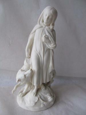 """Large Copeland Little Red Riding Hood Parian Ware Figurine by Thomas Woolner 11"""""""