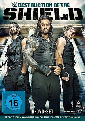 3 DVDs *  WWE - DESTRUCTION OF THE SHIELD # NEU OVP &