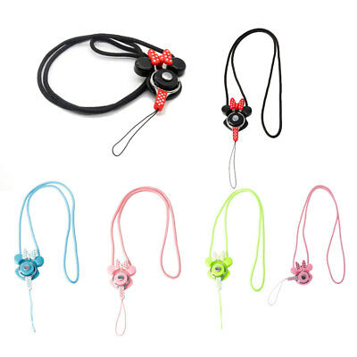 Cartoon Necklace Badge Neck Strap Lanyard Tag ID Card Holder Keychain Cell Phone