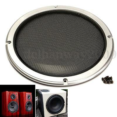 1PC Silver Circle Mesh Woofer Speaker Grilles w/ Black Protective Grille 8'' New