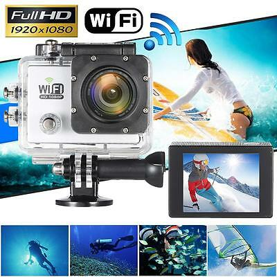 WiFi FULL HD 1080P 12MP Waterproof Sports DV Action Camera Helmet Camcorder T1A2