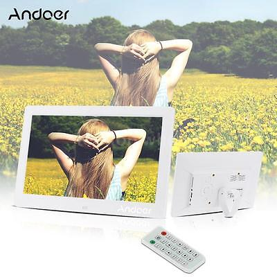 "10.1"" HD LCD Digital Photo Frame Picture Album Clock Movie Player+Remote Control"