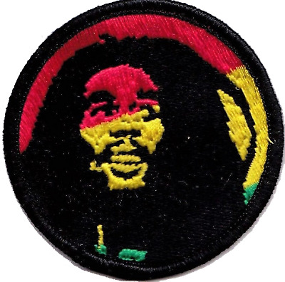 Bob Marley Rastafarian Embroidered Patch Badge - A518