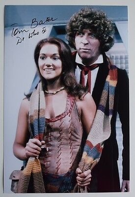 Tom Baker SIGNED 12x8 Photo Authentic Autograph Doctor Who TV AFTAL COA