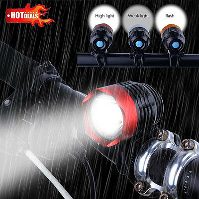 3000 Lumens XML T6 USB Interface LED Bike Bicycle Light Headlamp Headlight 3Mode