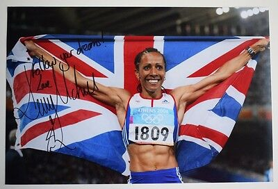 Dame Kelly Holmes SIGNED 12x8 Photo Autograph Olympics Sport AFTAL COA