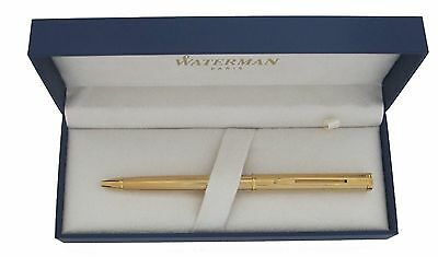 Waterman  Executive  Gold  Cap Activated  Ballboint Pen  New In Box