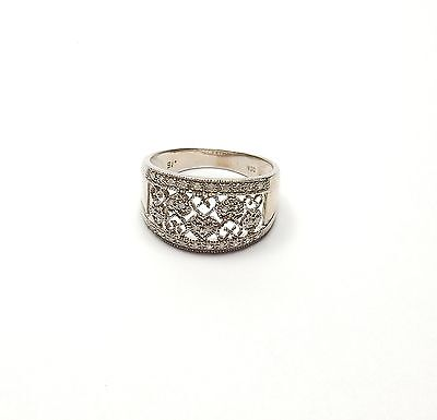 Diamond pave set ring 9 carat white gold Superb