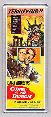 CURSE OF THE DEMON movie poster 'WIDE' FRIDGE MAGNET - HORROR CLASSIC!