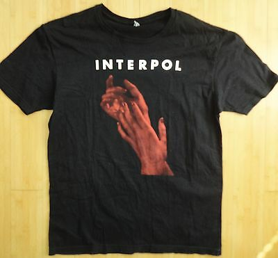Interpol El Pintor 2014 Tour Shirt Large Black Excellent
