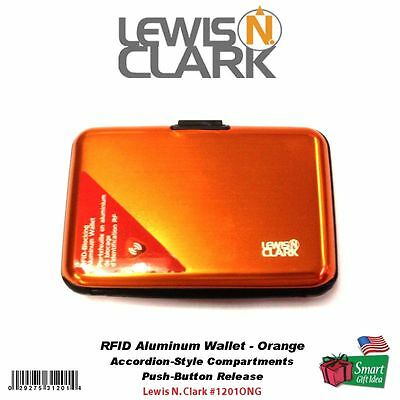Lewis N. Clark Travel Collection RFID Aluminum Wallet, Orange #1201ONG