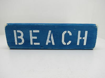 12 Inch Wood Hand Painted Beach Sign Nautical Seafood (#s640)