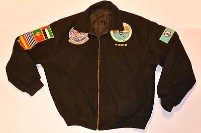 Uss George Washington (Cvn-73) 2002 Med/persian Gulf Cruise Tour Wool Jacket! L