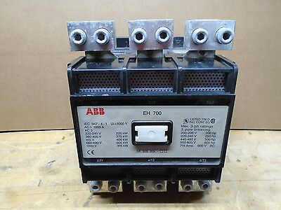 ABB EH700C Contactor 3 Pole EH700 EH-700 120 VAC Coil    W35