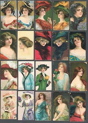 1911 ITC C243 Pretty Girls Tobacco Cards Complete Set of 30