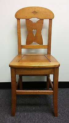 Vintage Antique Medium Color Hand Made Wooden Chair