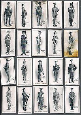 1915 ITC C18 Infantry Training Tobacco Cards Complete Set of 50