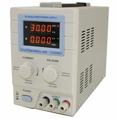 0-30V - 0-5A Linear Bench Power Supply | CSI3005T | Circuit Specialists