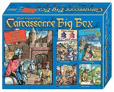 Carcassonne Big Box 5 [Exclusive Z-Man Games Board Game ALL EXPANSIONS RARE] NEW