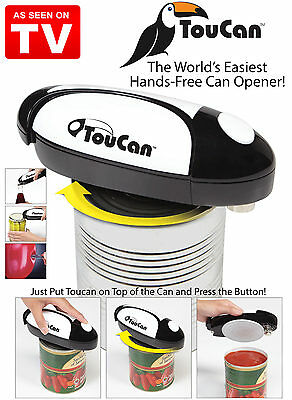 New TouCan Can Opener The Worlds Easiest Hands-Free Battery Op. Automatic Magnet