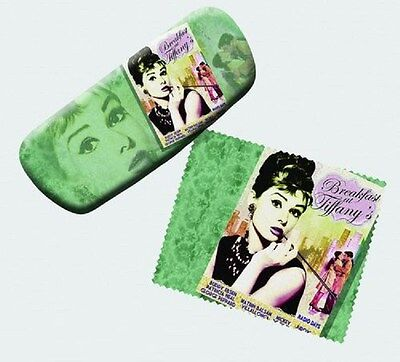 Audrey Hepburn Eyeglass Case with Cleaning Cloth
