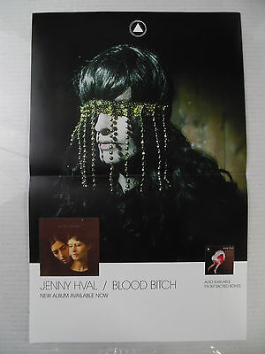 "Jenny Hval - Blood Bitch * 11"" x 17"" Official Promo Poster * Rare * Limited"