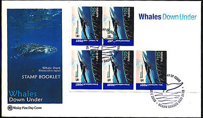 2006 Australia - Wcs - Wwf Whales Down Under Booklet - Fdc - Cover - J41