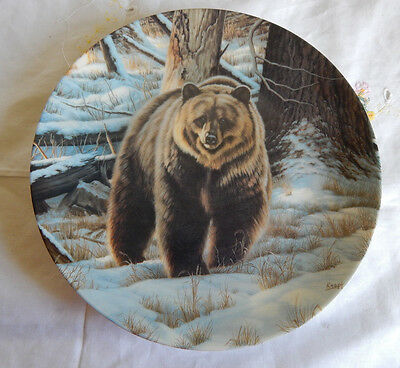 The Grizzly Bear Plate Wild And Free: Canada's Big Game Paul Krapf Coa/box