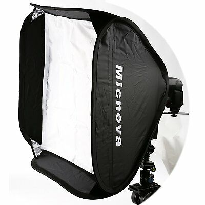 "Micnova SB60 24x24"" Softbox Kit w Speedlight L-Type Bracket for Camera Flashes"