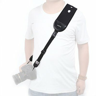 Movo Photo NS-9 II Shock-Absorbing Camera Neck Sling Strap / Wrist Strap Comb
