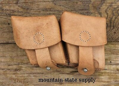 Austrian / Hungarian / Czech Steyr M-95 1895 M95 Repro Leather 8x56r Ammo Pouch