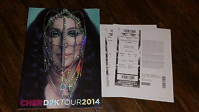 CHER D2K Dressed 2 Kill Tour 2014 Concert OFFICIAL TOUR BOOK w/ Ticket Stubs
