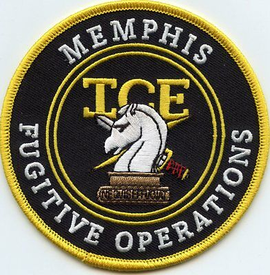MEMPHIS TENNESSEE TN ICE FUGITIVE OPERATIONS full color POLICE PATCH