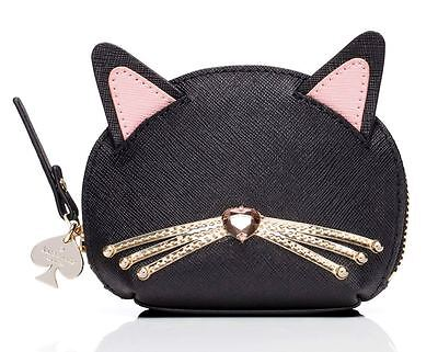NWT Kate Spade jazz things up cat Leather coin purse! Rare Ltd Edition!