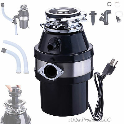 Complete Commercial Grade Garbage Food Waste Kitchen Sink Disposal Erator Set