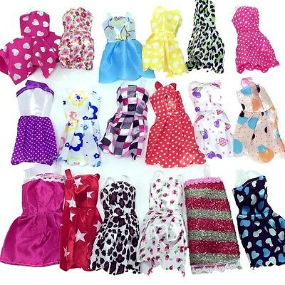 10pcs  Handmade Party Beauty Clothes Dresses outfit for Barbie Doll Girls Toys