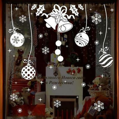 Reusable white Christmas Snowflakes Window Sticker Self Clings Decorations