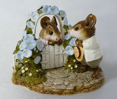 Wee Forest Folk Blue Mousie Comes A Calling