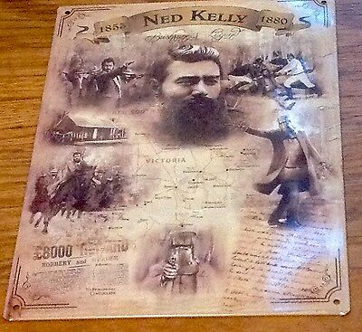 Ned Kelly Metal Tin Sign Plaque Advertising Many Others Listed