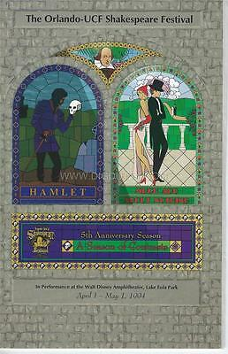 Programme 1994 -Orlando UCF Shakespeare Festival HAMLET / MUCH ADO ABOUT NOTHING