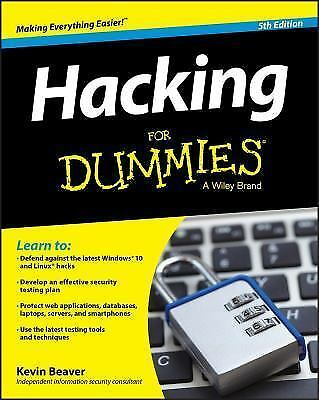 Hacking for Dummies® by Kevin Beaver (2015, Paperback)