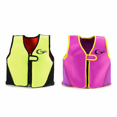 Kids Girls Boys Swimming Float Jacket Vest Floating Aid Childs Swim Ages 2-8 New