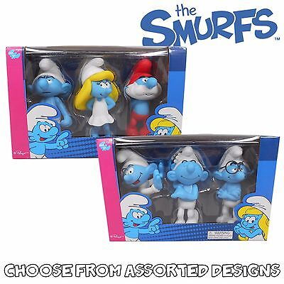 The Smurfs 13cm LARGE FIGURE COLLECTION Triple Pack - Assorted