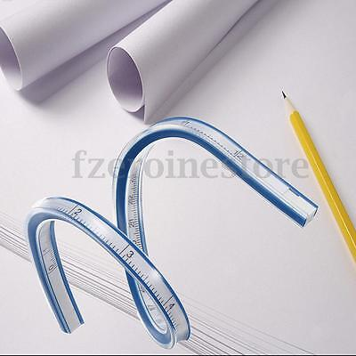 Flexible French Curve Ruler Drafting Drawing Sewing Plastic Vinyl 30CM 12''