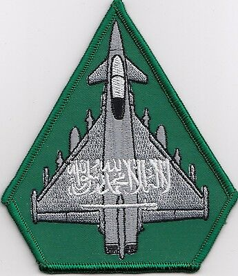 Royal Saudi Arabia Air Force RSAF Typhoon Embroidered Crest Badge Patch
