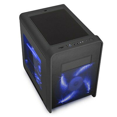 CiT Mesh KUBE Black Desktop Gaming Case - USB 3.0