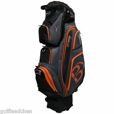 Bennington QO 14 Quiet Organizer Golfbag 16 - Black/Grey/Orange - NEU - UVP 370€