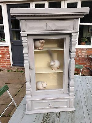 French antique wall cabinet